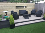 Recently fitted decking area - Macclesfield