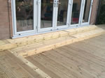 Recently fitted timber decking  - Bollington