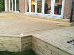 New timber decking installation