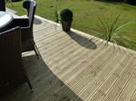 Recent fitting of garden decking in Macclesfield