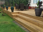Outdoor decking area in Tytherington, Macclesfield