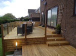 Decking,lighting and steps